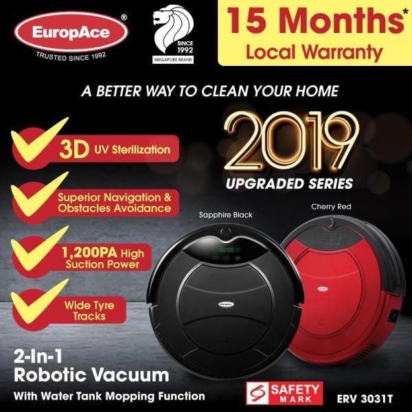 ERV 3031T Robotic Vacuum Cleaner (Wet and Dry) - Black / Red Singapore