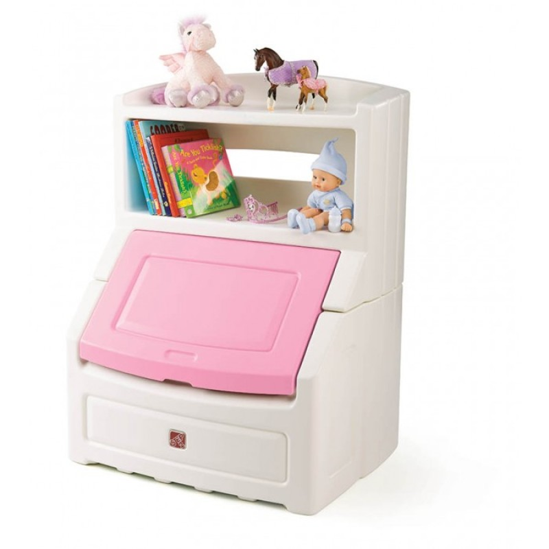 Step2 Lift & Hide Bookcase Storage Chest (Pink)