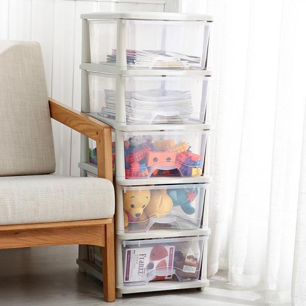 Toy Storage Box IKEA with Douyin Celebrity Style Multilayer Transparent Storage Cabinet Drawer-type Plastic Toy Storage Box