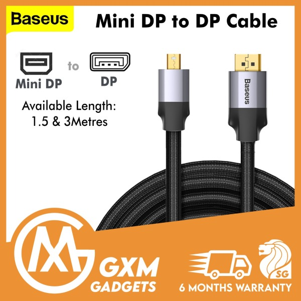 BASEUS Mini DP Male to DP Male 4KHD Adapter Cable Enjoyment Series TV Computer Projector Laptop