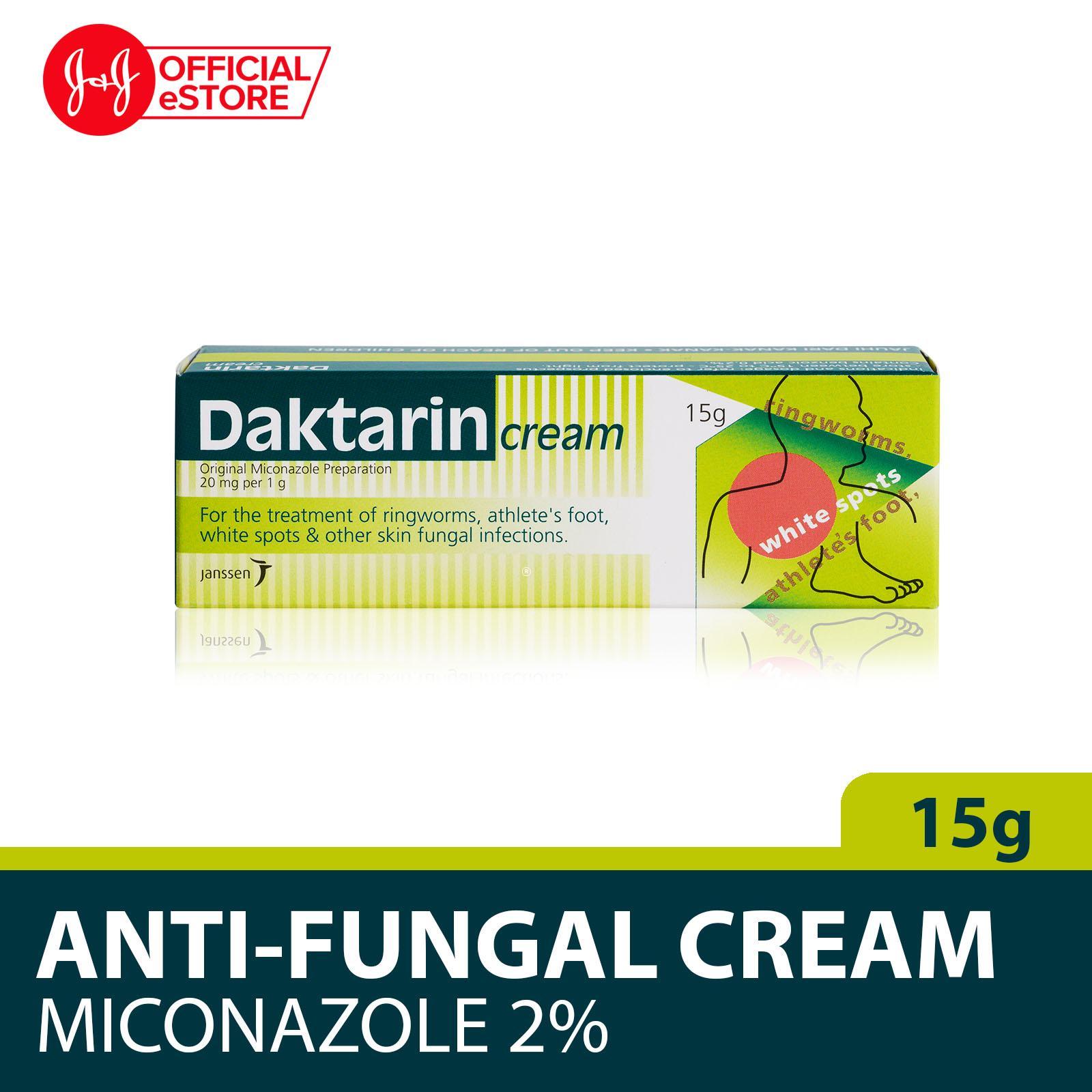 Daktarin Anti-Fungal Cream Miconazole 2% 15g By Johnson & Johnson Official Store.