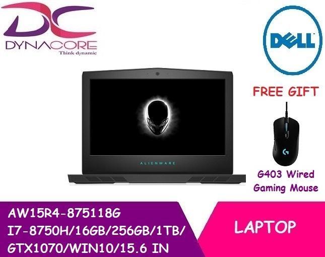 DELL ALIENWARE AW15R4 875118G I7-8750H/16GB/256GB/1TB/GTX1070/WIN10/15 6 in  NOTEBOOK(2YRS Warranty)
