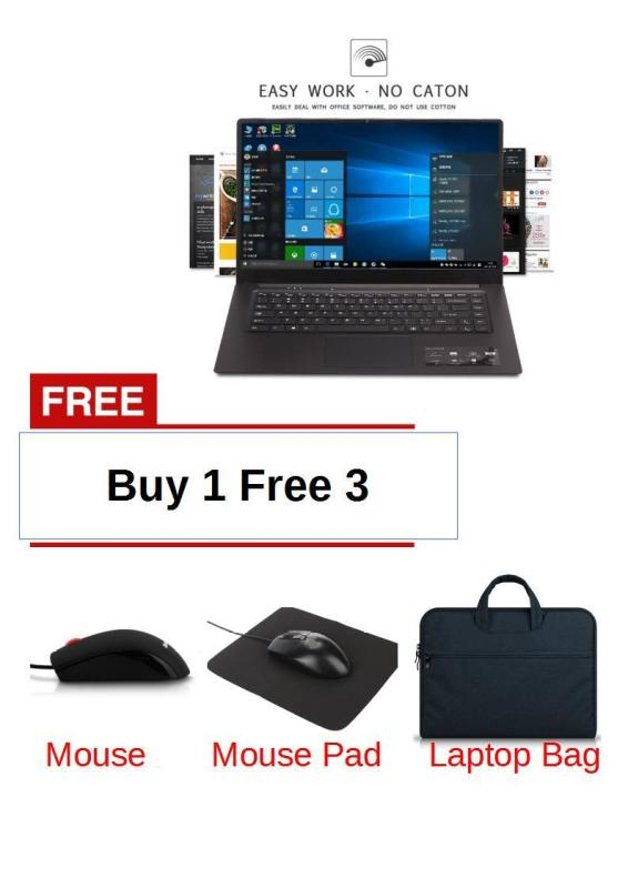 (Buy 1 Free 3)Ultra-thin Laptop Free Shipping and Flash Deal New Business Portable Laptop Durable Z8350 1920*1080 15.6 inches Windows 10 Operating System Supply for Office Working Black (15.6 inch 4GB 64GB Intel W10 ) For Games