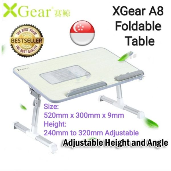 🇸🇬SG SELLER🇸🇬Xgear A8 Foldable Laptop Table, Adjustable Height, USB Cooling Fan
