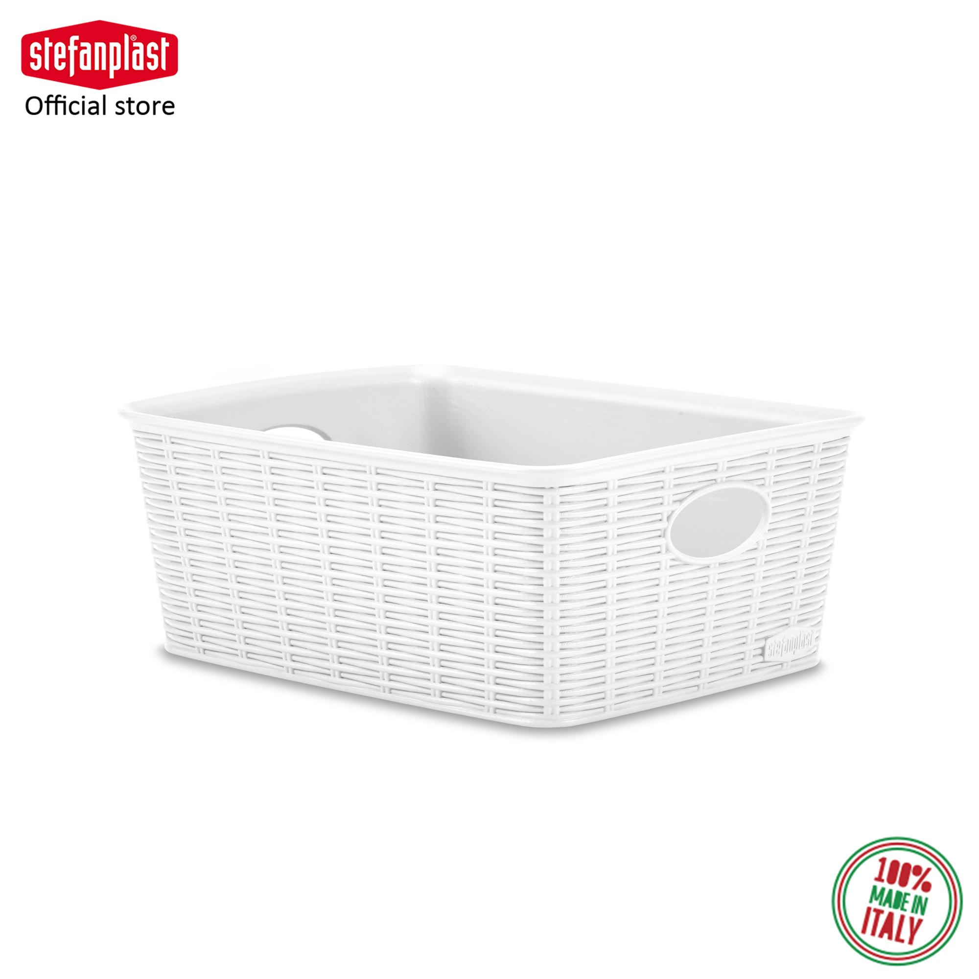Elegance Basket High (M) 100% Made in Italy  Suitable for Food Contact  HIGH QUALITY  Wicker Finishing