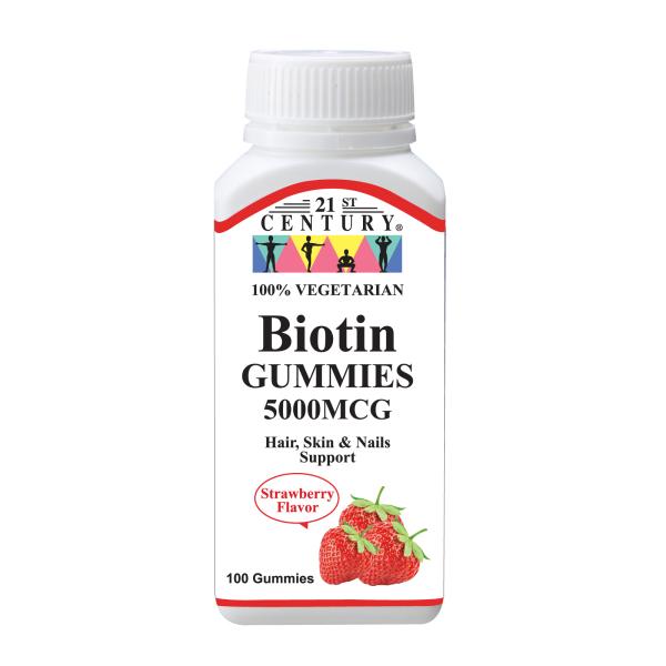 Buy 21st Century Biotin 5000MCG 100 gummies Singapore