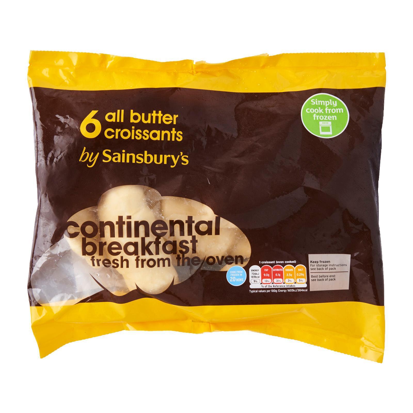 Sainsbury's Butter Croissants - Frozen