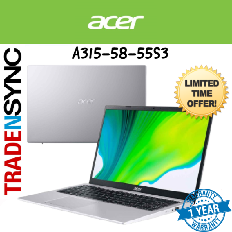 [ Next working day delivery ] Acer Aspire 3 | A315-58-55S3  | Intel i5-1135G7 | 8GB RAM | 256GB SSD | intel iris Xe | WIN 10 Home | 1 yr acer warranty