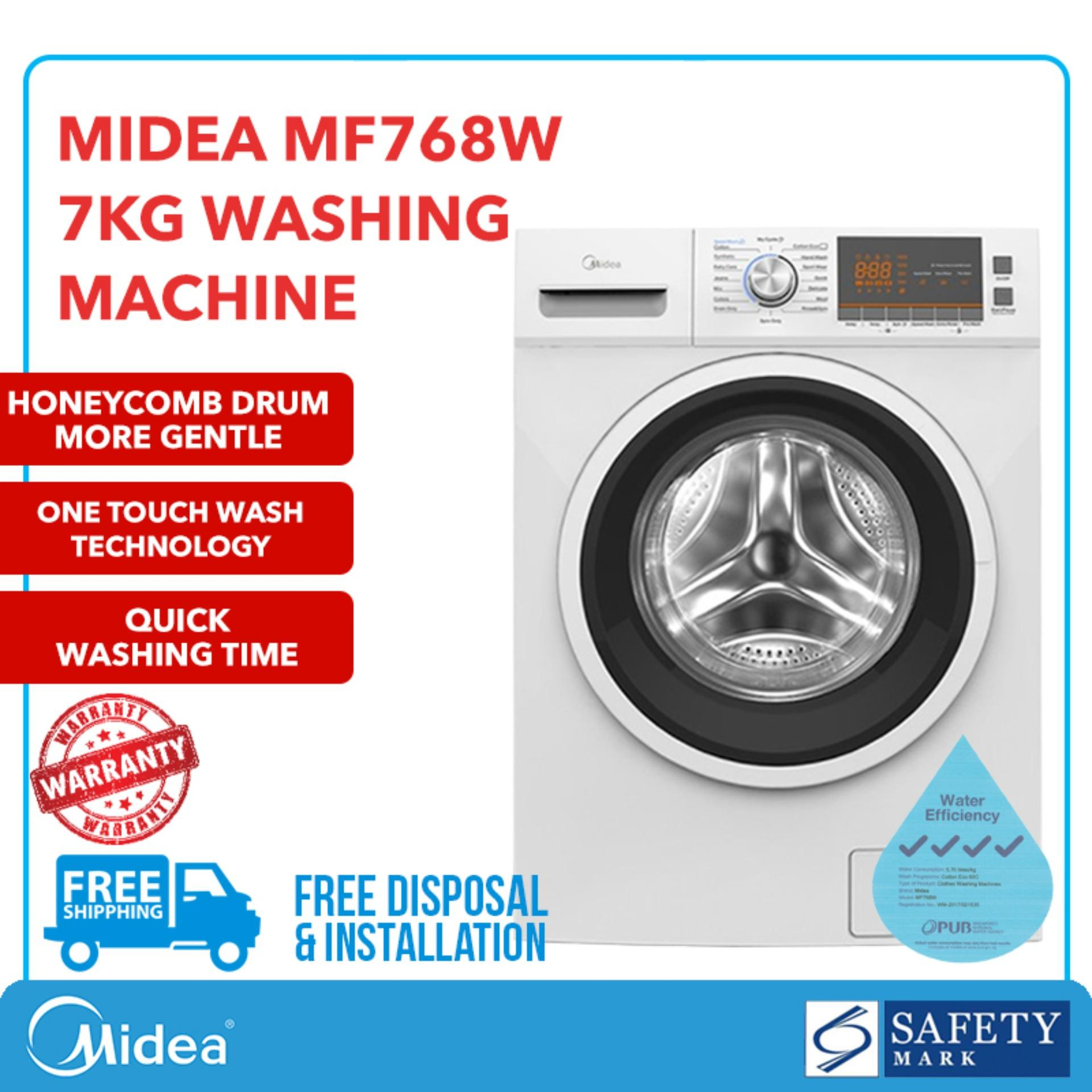 Midea Mf768w Front Load - 7 Kg Washer By Midea Official Shop.