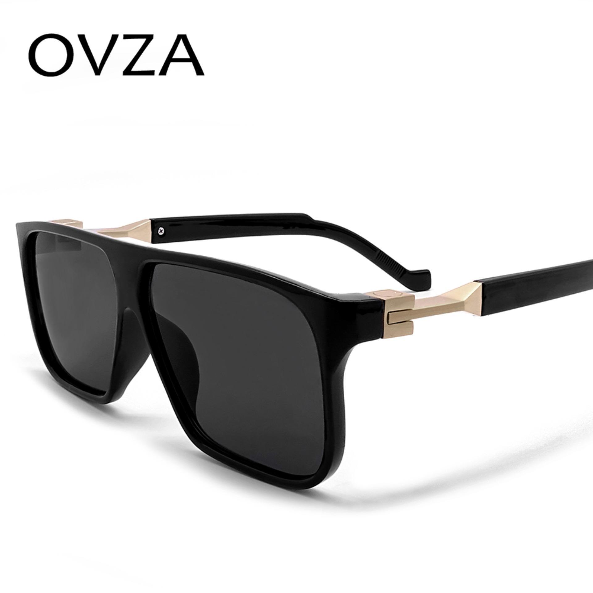 1bfdd4a6a633 OVZA Futuristic Style Rectangle Fashion Mens Sun glasses Women Brand  Designer Mirror Sunglasses High quality Flat