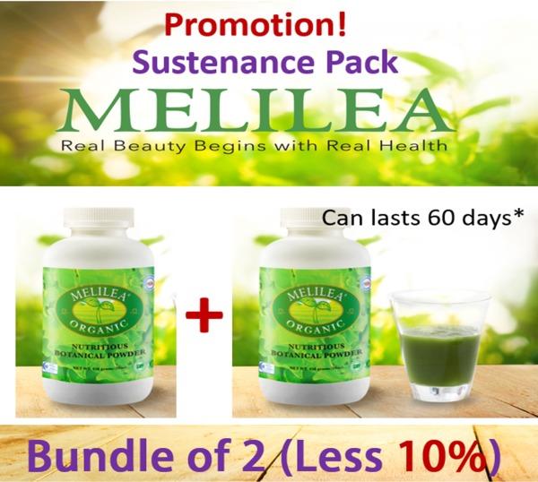 Buy Melilea Organic Botanic Powder [Bundle of 2] [Sustenance Pack] Singapore