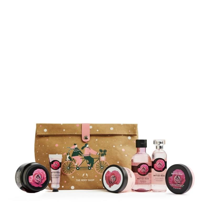 Buy The Body Shop Glowing British Rose Ultimate Gift Bag (Limited Edition Set) Singapore