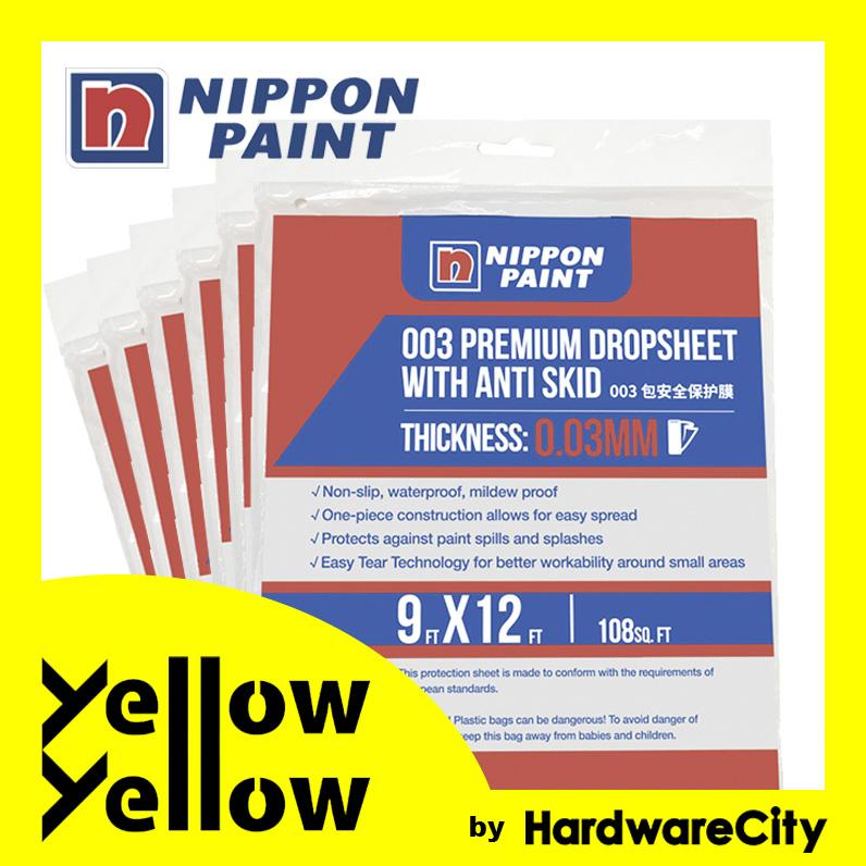 Nippon Paint DIY Plastic Drop Sheet 9ft x 12ft (PACK OF 6)