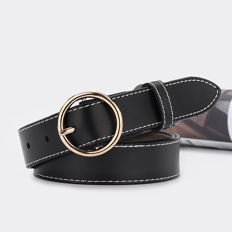 Ladies Belt leisure wide Kraft leather belt retro decoration Jeans Belt