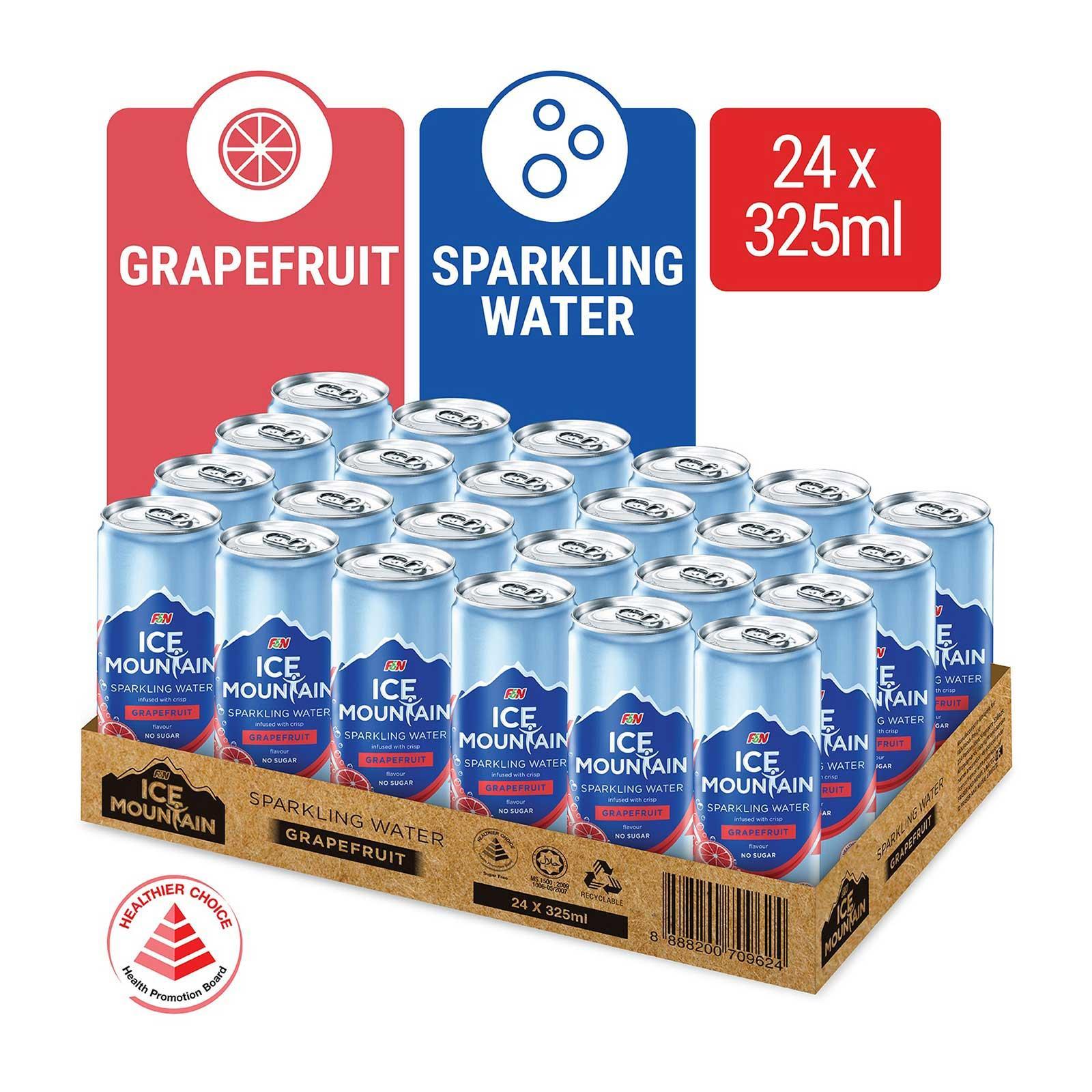 Ice Mountain Grapefruit Sparkling Water 24s Case