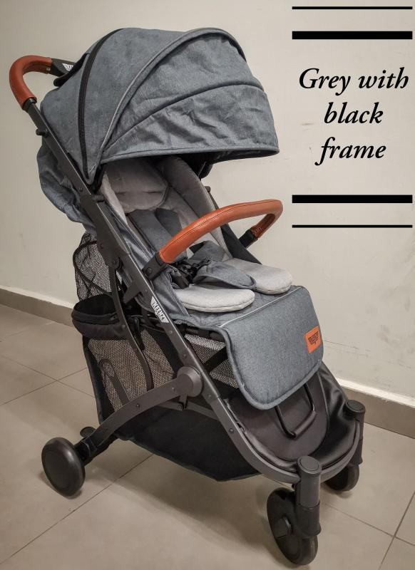 Keenz Air Plus Strongest Compact Stroller (Grey Fabric with Black Frame) - Designed and Engineered in Korea & Germany Singapore