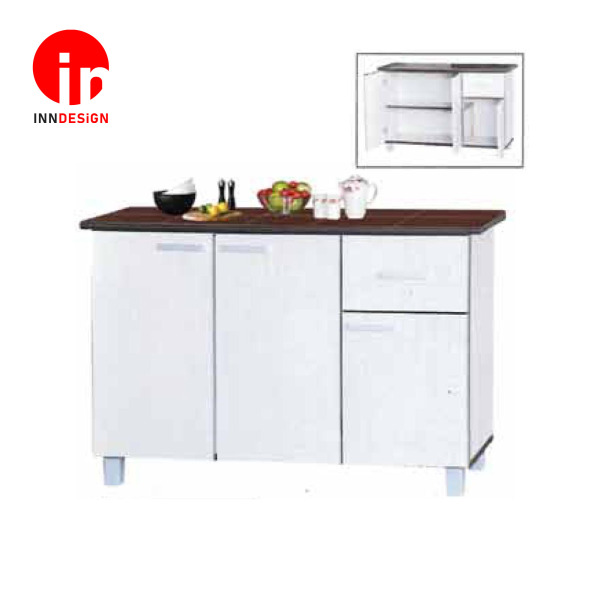 [Pre-Order] Cassiva 2 Doors 4ft Kitchen Cabinet (Free Delivery and Installation) (White)