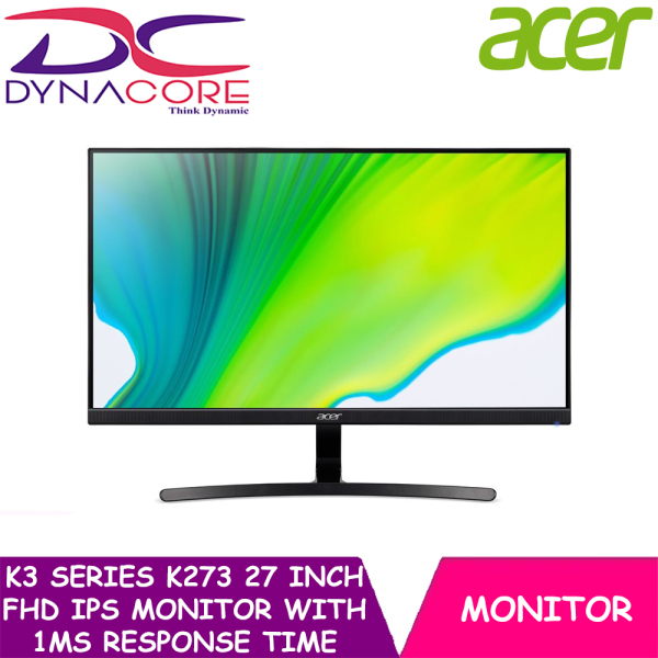 DYNACORE - Acer K3 Series K273 27 Inch FHD IPS Monitor with 1ms Response Time