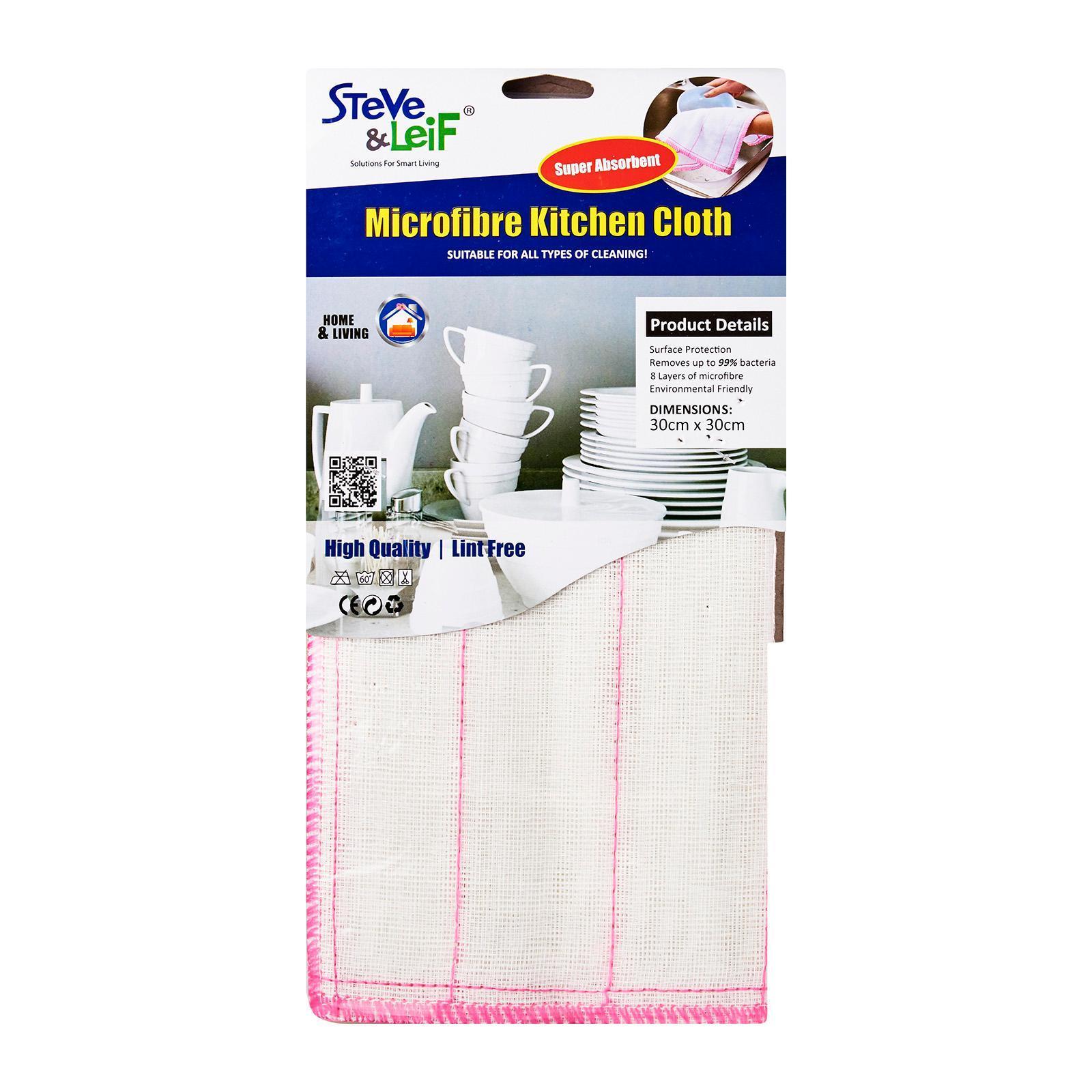 Steve & Leif 8 Layers Microfibre Kitchen Cloth (3 Pcs)