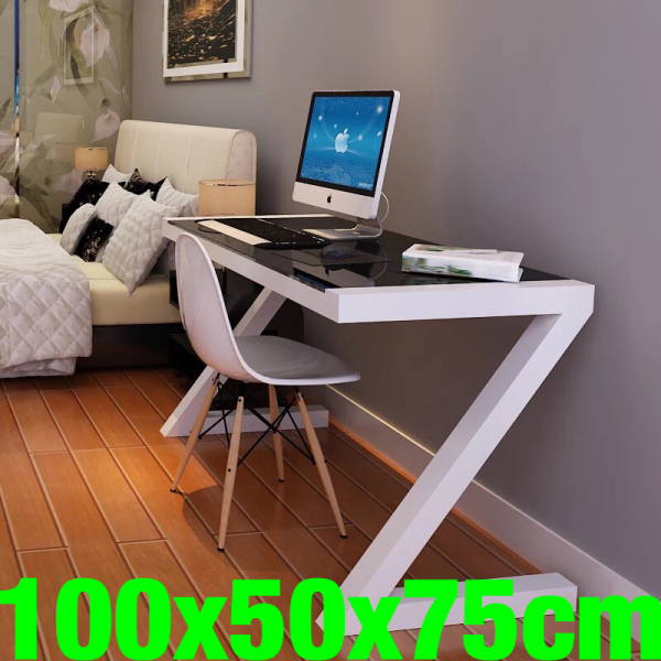 UMD (Free Installation) Tempered Glass table study stable study desk computer desk(Choose your desired color and size)