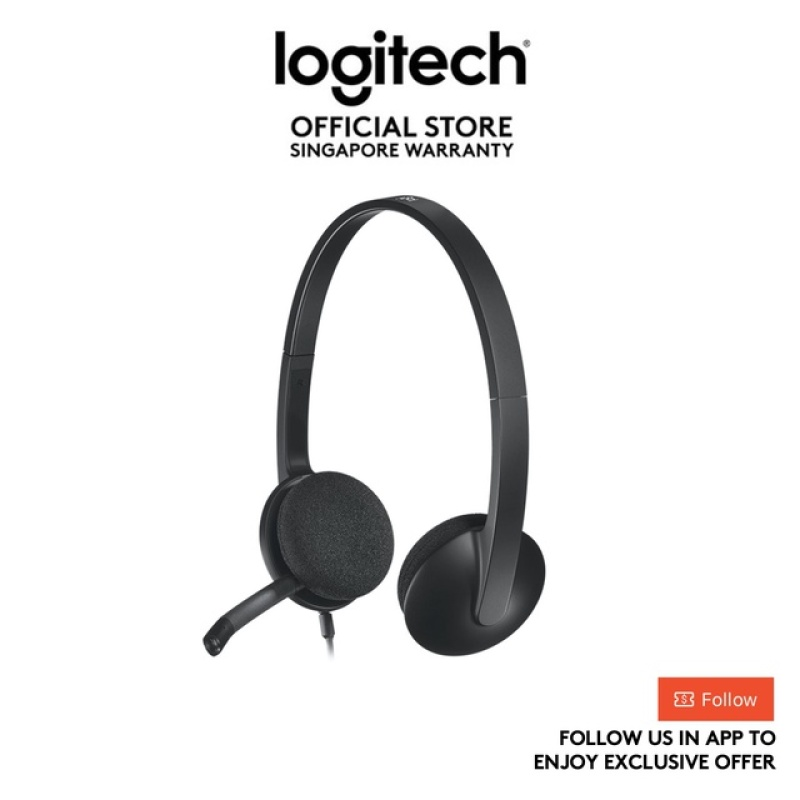 Logitech H340 USB Headset with Noise-Cancelling Mic (Ready Stock) Singapore