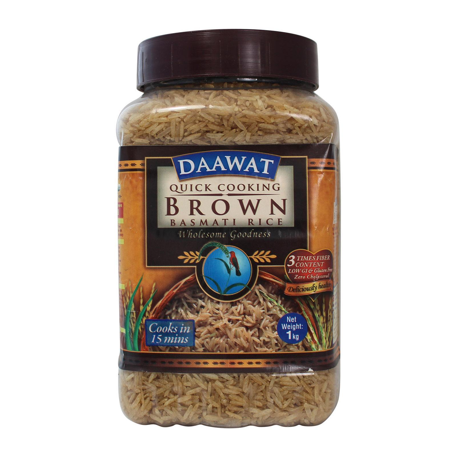 Daawat Brown Basmati Rice 1kg - By Dashmesh By Redmart.