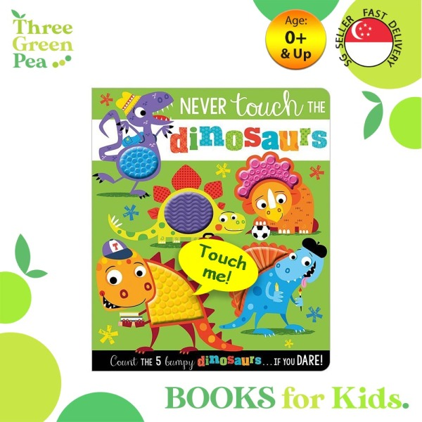 Touch and Feel Book Never Touch the Dinosaurs - Children Board Book for babies