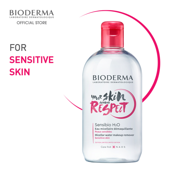 Buy Bioderma 25th Anniversary Sensibio H2O Soothing Non-Rinse Micellar Facial Cleansing Water (Sensitive Skin) Limited Edition 500ml Singapore