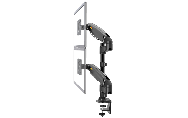 H160 LED Monitor Arm, Monitor Support with Double Arms, Cable Management Included, Home Office, Double Arm Monitor, Desk Mount, Dual Arm Monitor Bracket, Dual Screen,