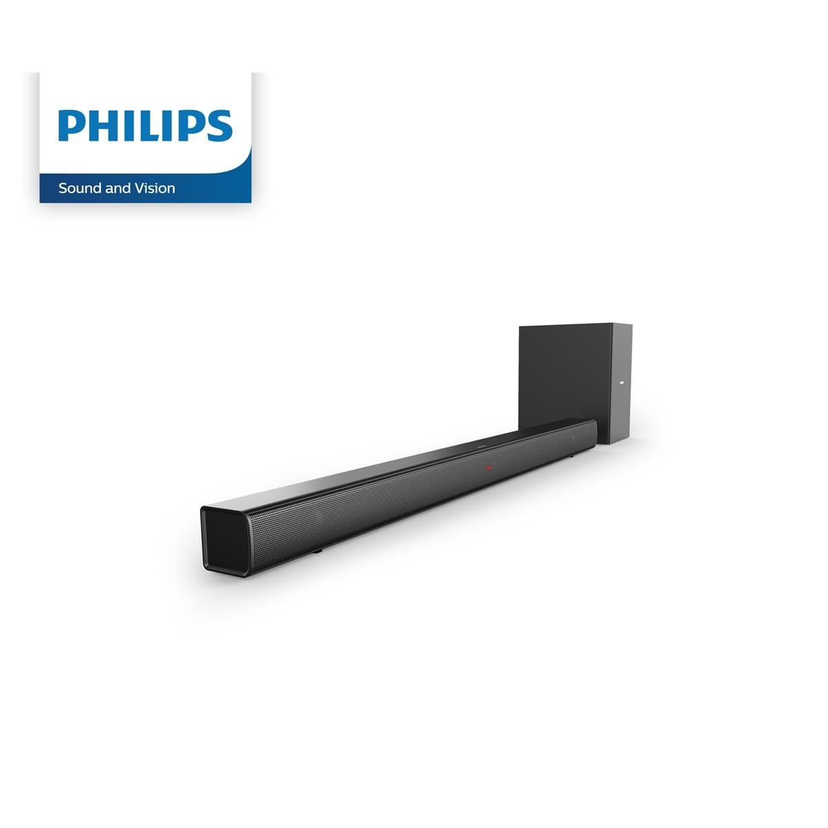 Philips Soundbar Speaker 2 1 Channel Wireless Subwoofer HTL1510B with 1  year warranty