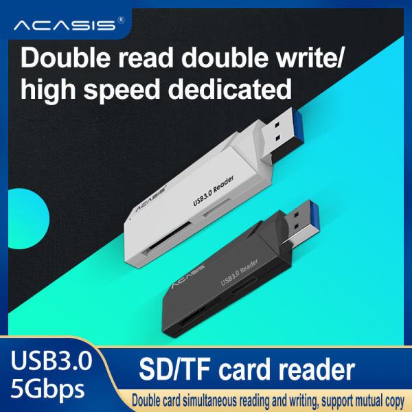 Acasis Card Reader USB 3.0 2.0 to SD Micro SD TF Memory Card Adapter for laptop Accessories Multi Smart Cardreader Card Reader