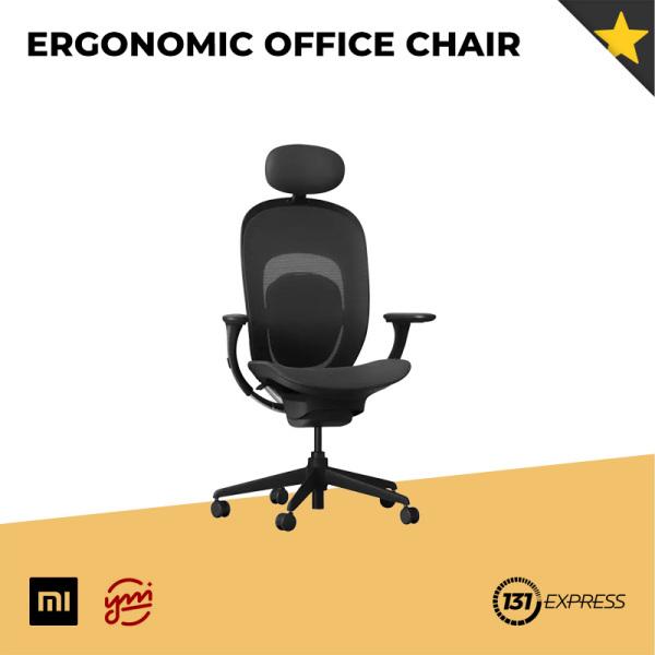 Xiaomi Yuemi Ergonomic Office Chair [ Adjustable Lumbar Support, Comfortable, 3D Adjustable Linkage Armrest, Detachable Headrest, Breathable Fabric, Aluminium Alloy Frame, SamHong Gas Lift,  Smooth Low Noise Caster ]