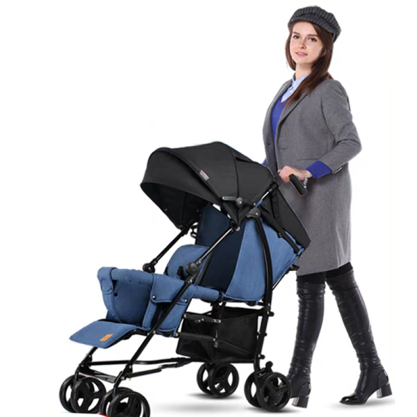 Portable Twin Stroller Two Seats Double Stroller Aluminum Tandem 3Colors Singapore
