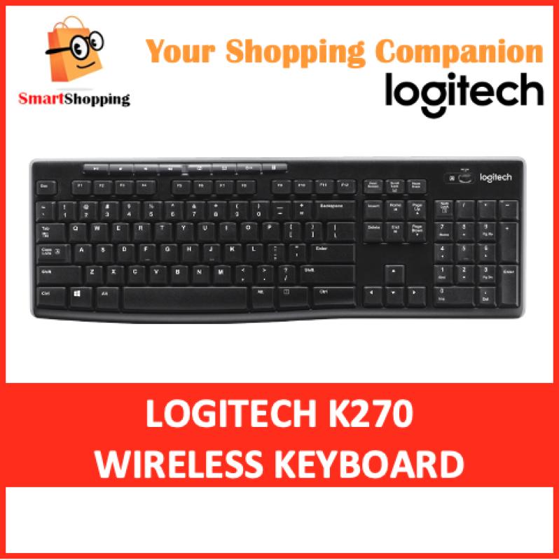 Logitech K270 Wireless Keyboard Full-size Unifying wireless USB Compatible with Windows 3 Year SG Warranty Singapore