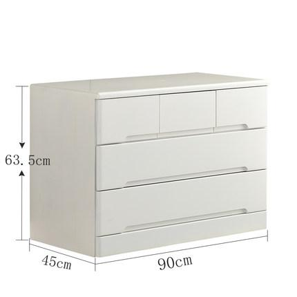 Solid Wood Drawer Minimalist Modern Chest of Drawers Bedroom Locker Storage Cabinet Chests of Drawers Six And Seven Five-bucket Cabinet