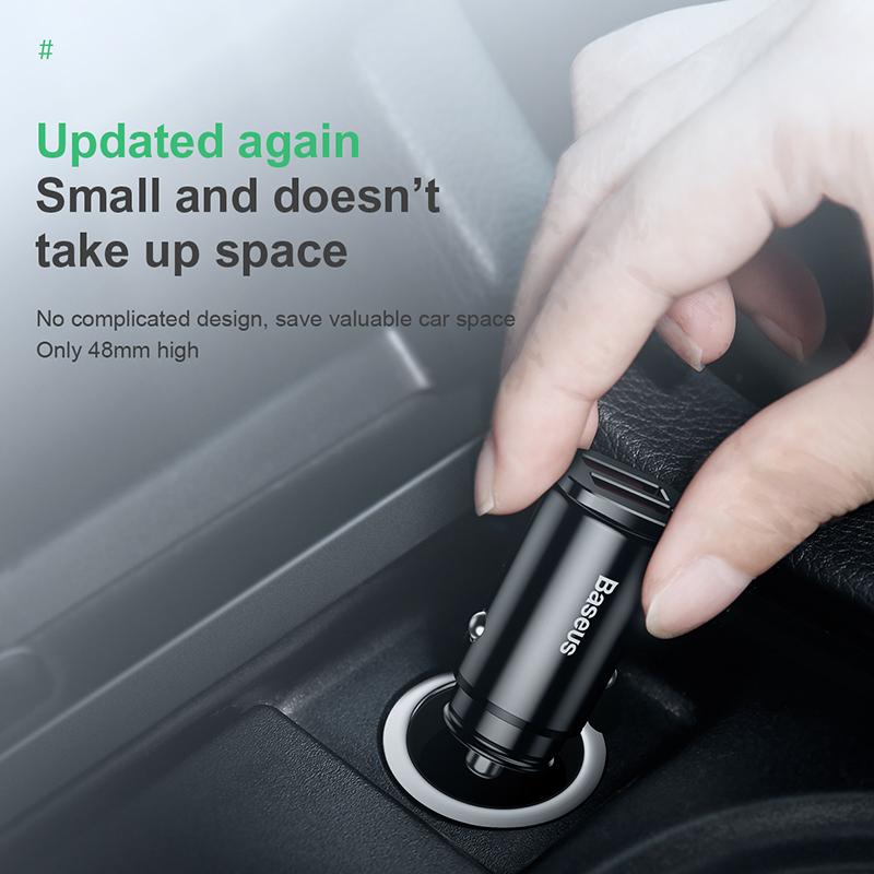 Baseus Quick Charge 4.0 3.0 Usb Car Charger For Iphone Xiaomi Huawei Qc4.0 Qc3.0 Qc Auto Type C Pd Fast Car Mobile Phone Charger 30w  Dual Qc 3.0  Quick  Car Charger.