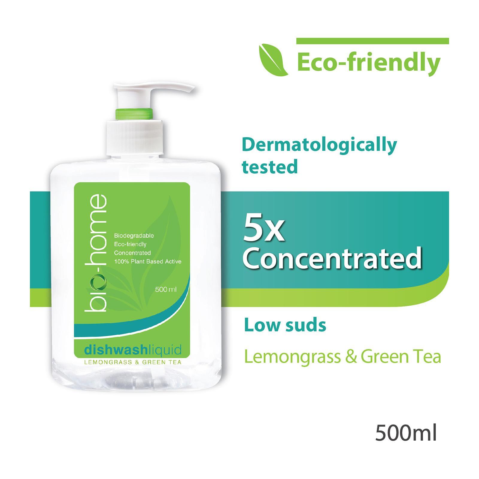 Bio-Home Lemongrass and Green Tea Dishwashing Liquid 500ml