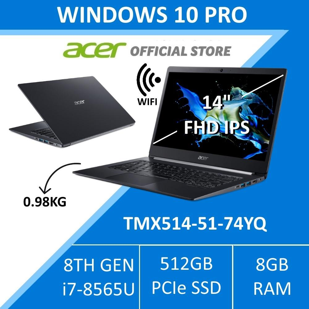 Acer Travelmate TMX514-51-74YQ Thin and Light Business Laptop (Windows 10 Professional)