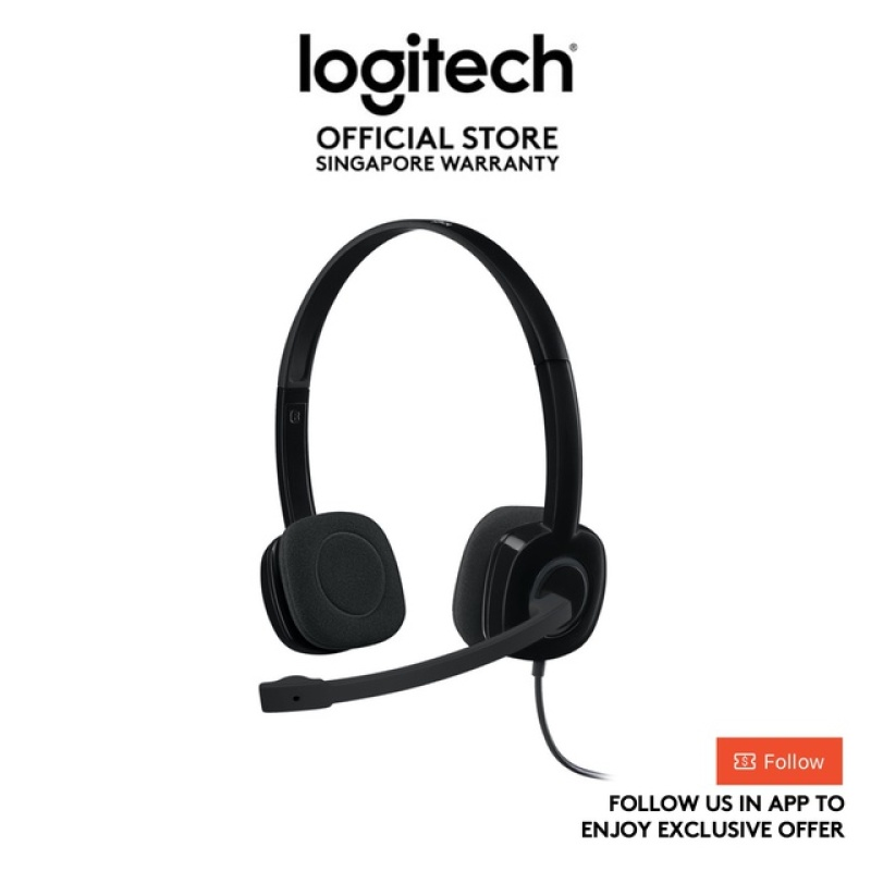 Logitech H151 Stereo Headset with Noise-Cancelling Mic, Single 3.5 Jack For PCs, Notebooks, Phones & Tablets Singapore