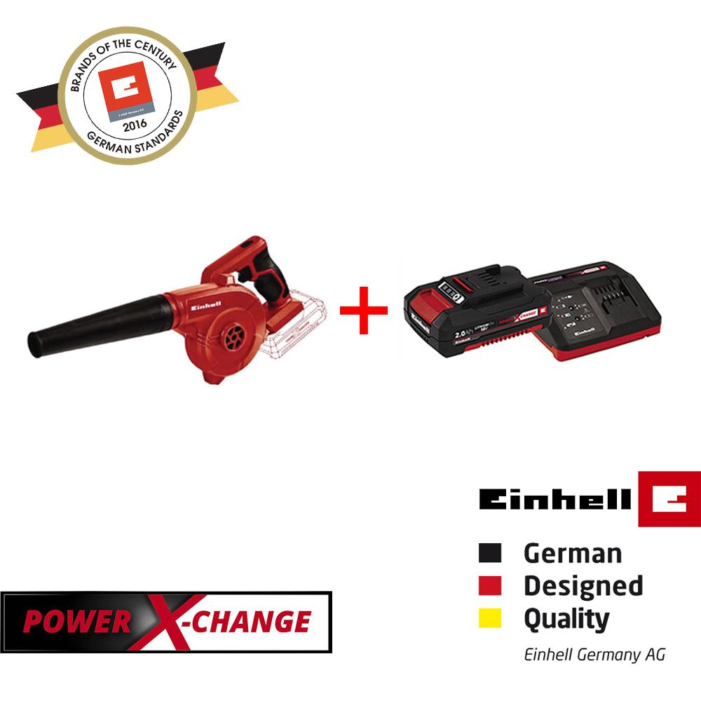 [BUNDLE SET] Einhel TE-CB 18/180 Li-Solo Cordless Blower + Power-X-Change Battery & Charger Set