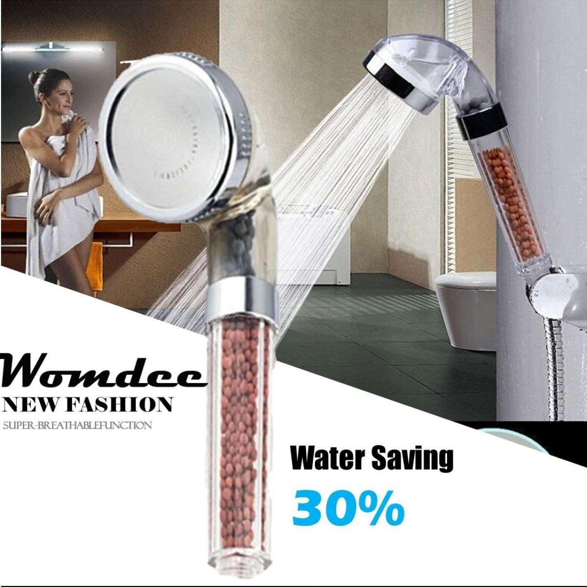 Womdee Bathroom Booster Spa Anion Water-Saving Handheld Rain Shower Spray Head Nozzle,6cm - Intl By Womdee.
