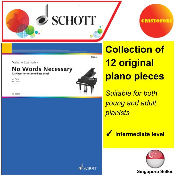 No Words Necessary - Collection book of 12 Piano pieces for intermediate level