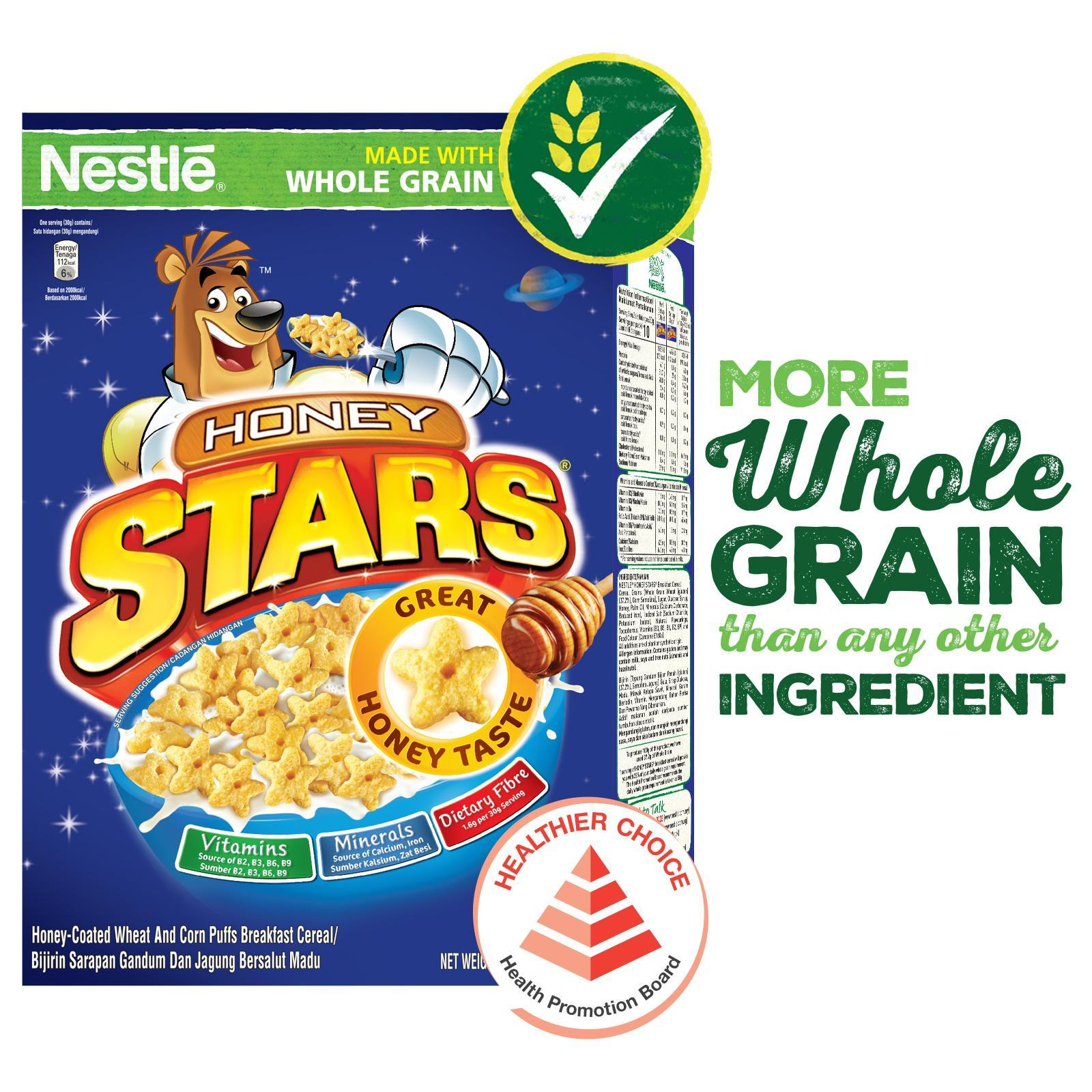 Nestle Honey Stars Cereal With Whole Grain By Redmart.
