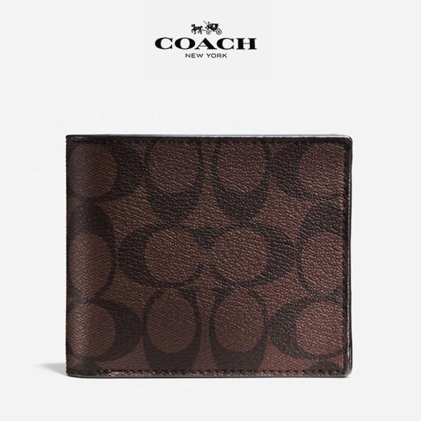 Coach Men Wallet Model F74993 - Wallet in Signature Coated Canvas with Removable ID Insert