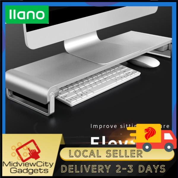 [SG] llano Aluminum Foldable Adjustable Computer Stand cooling rack desktop with Keyboard Storage Function