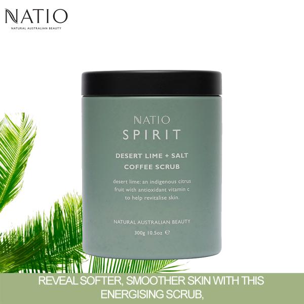Buy Natio Spirit Desert Lime + Salt Coffee Scrub 300g Singapore