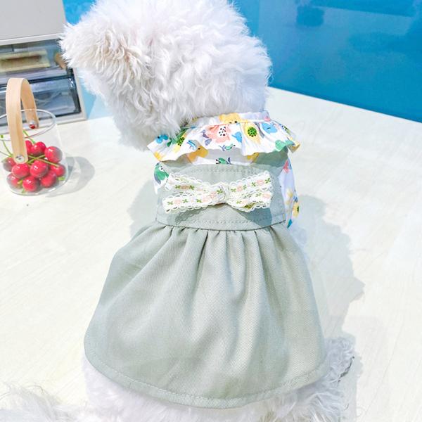 1 Chiếc Váy Thú Cưng Váy In Hình Chó Mèo Thường Ngày Thân Thiện Với Da Thiết Kế Hoa Cho Mùa Thu