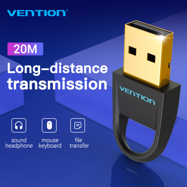 Vention USB Bluetooth Adapter V4.0/5.0 Dual Mode Wireless Bluetooth Dongle CRS Audio Receiver Adapter For Win10/Win7/8/XP Tablet Computer