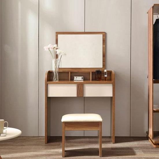LINSY Simple modern dresser, makeup/dressing table, bedroom, dressing makeup table CP1C High quality wooden board, drawer storage, anti-scratch, stable structure LinShiMuYe (林氏木业)