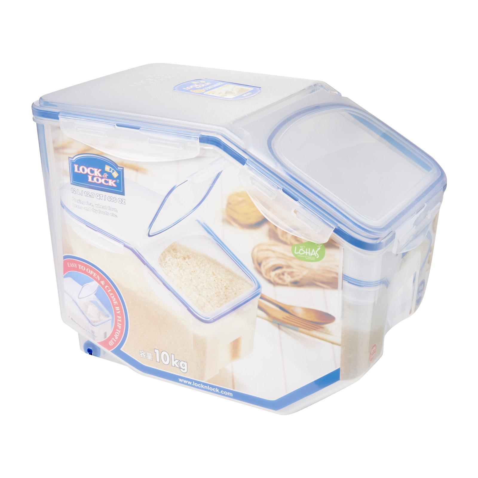 Lock & Lock Rectangular Classic Food Container 3.4L With Divider